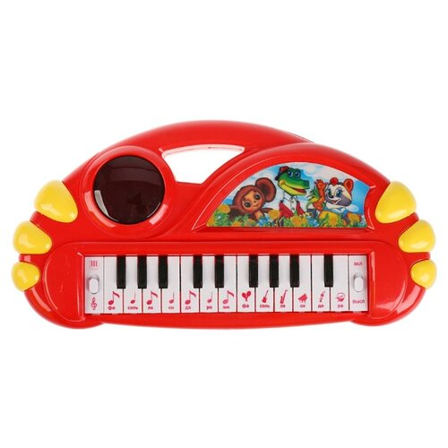 Купить Умка пианино T377-D3542-R красный, Детские музыкальные инструменты