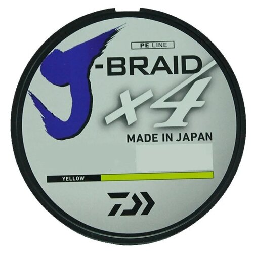 Плетеный шнур DAIWA J-Braid X4 yellow 0.33 мм 270 м 22.4 кг