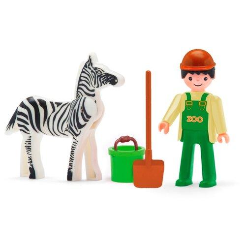 Купить Игровой набор Efko Сотрудник зоопарка с зеброй 31219EF-CH, Игровые наборы и фигурки