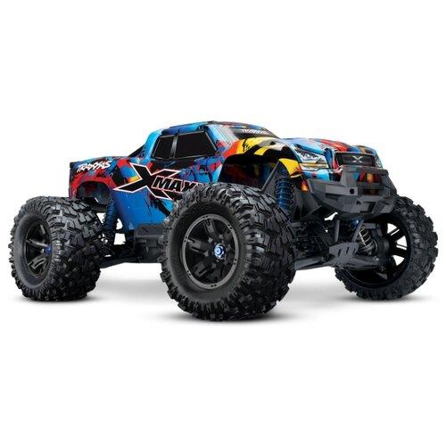 Купить Монстр-трак Traxxas X-Maxx 4x4 8S TSM (77086-4) 1:5 75.8 см голубой, Радиоуправляемые игрушки