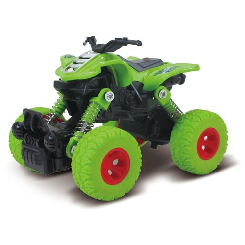 Квадроцикл die-cast, инерционный механизм, рессоры, зеленый, 1:46 Funky toys FT61071