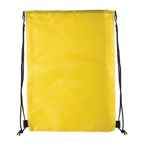 brauberg сумка для обуви flamingo 229174 синий Сумка для обуви BRAUBERG, прочная, на шнурке, желтая, 42x33 см, 227142