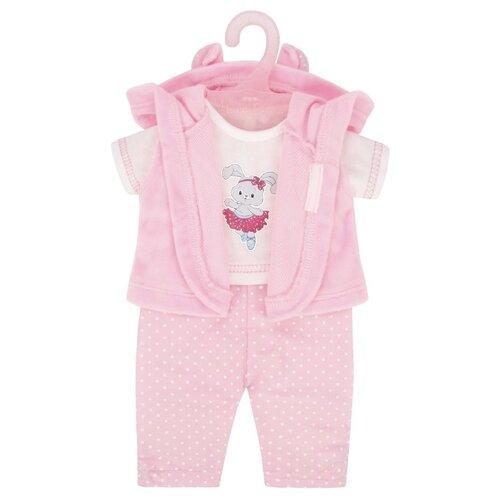 Фото - Mary Poppins Комплект одежды Зайка для кукол 38-43 см розовый сумка бочонок mary poppins зайка 530035 пластик розовый голубой