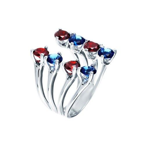 ELEMENT47 Широкое ювелирное кольцо из серебра 925 пробы с кубическим цирконием WR24488-BH3_001_WG, размер 16.5