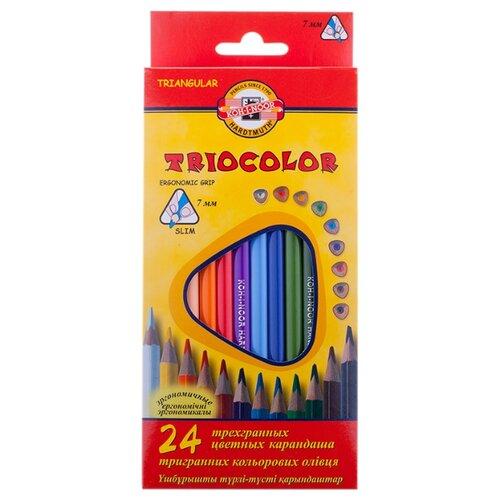 Купить KOH-I-NOOR Карандаши цветные Triocolor, 24 цвета (3134024004KS), Цветные карандаши