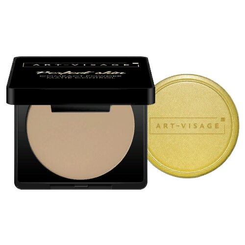 цена на ART-VISAGE Пудра компактная Perfect skin Compact Powder Matte Control 214 кремовый