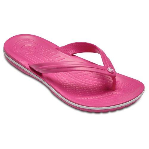 Шлепанцы Crocs Crocband Flip, размер 40-41(M8/W10), paradise pink/white
