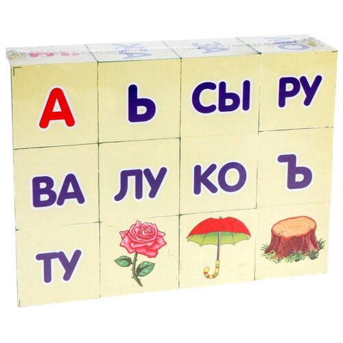 цена на Кубики Играем вместе Читаем по слогам 256822