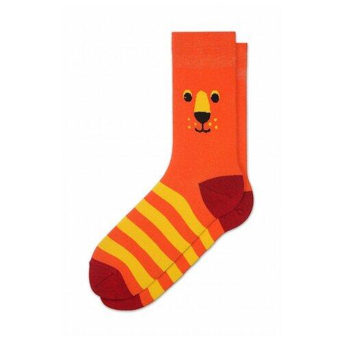 Фото - Носки St. Friday Лев Кинг 272-12, размер 38-41 , оранжевый/желтый носки st friday египетская сила размер 38 41 белый коричневый желтый