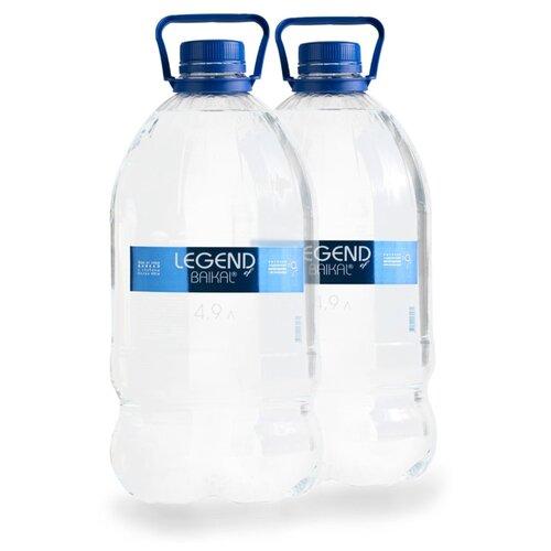 Вода питьевая Legend of Baikal глубинная негазированная, пластик, 2 шт. по 4.9 л