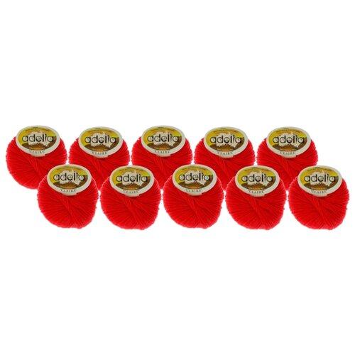 Купить Пряжа Adelia Claire, 50 % шерсть, 50 % акрил, 50 г, 138 м, 10 шт., №120 красный