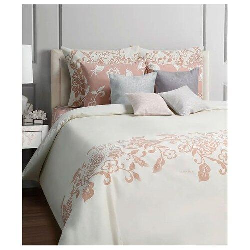 Постельное белье 2-спальное Mona Liza Irish cream 70х70 см, бязь белый/розовый цена 2017