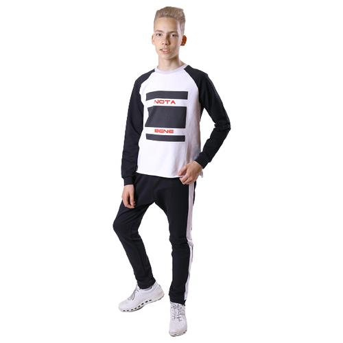 Купить Спортивный костюм Nota Bene размер 140, черный/белый, Спортивные костюмы