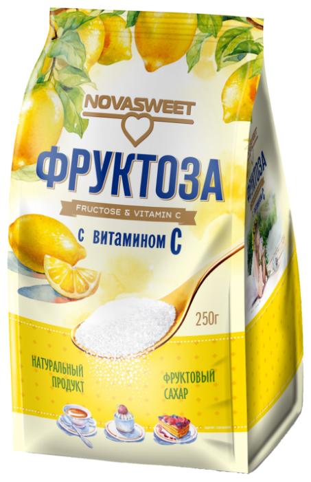 NOVASWEET Сахарозаменитель Фруктоза с витамином С, пакет порошок