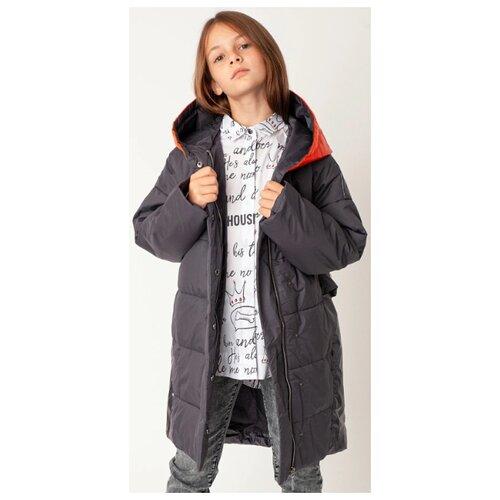 Купить Пальто Gulliver 22008GJC4508 размер 158, серый, Куртки и пуховики