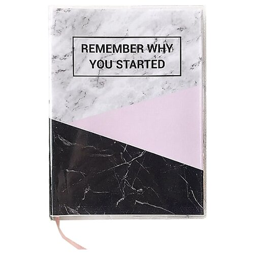 Купить Ежедневник Sammy ICON Remember Why You Started Mini недатированный, 144 листов, серый, Ежедневники, записные книжки