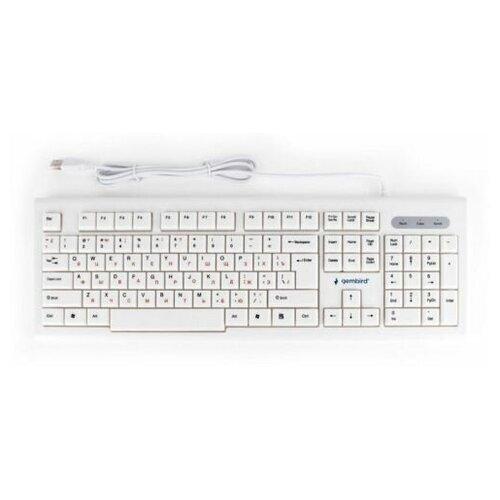 Клавиатура проводная Gembird KB-8354U white (USB, 104 клавиши) (KB-8354U)