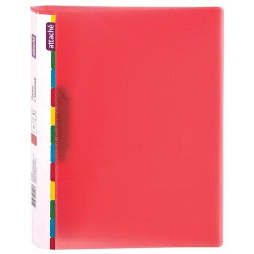 Купить Attache Папка с зажимом Diagonal А4, пластик красный, Файлы и папки
