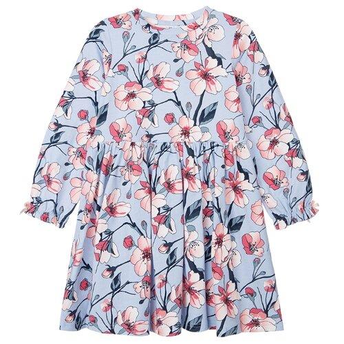 Купить Платье playToday размер 110, голубой/светло-розовый, Платья и сарафаны