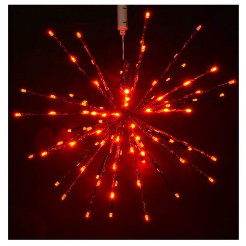 Гирлянда Rich LED Ежик-трансформер RL-TB45CF. 45 см, 96 ламп, красный