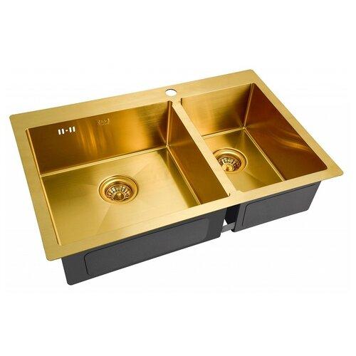 Фото - Врезная кухонная мойка 78 см ZorG SZR 78-2-51 L BRONZE бронза врезная кухонная мойка 78 см zorg szr 78 2 51 r bronze бронза
