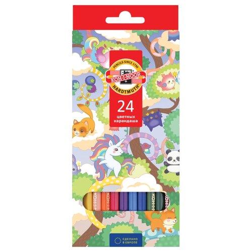 Купить KOH-I-NOOR Карандаши цветные Волшебный лес, 24 цвета (3554024037KS), Цветные карандаши