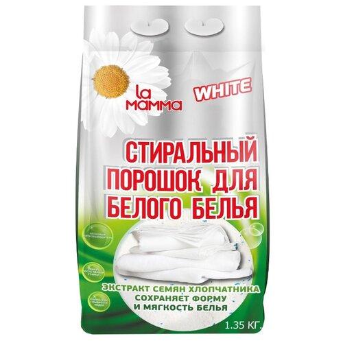 Стиральный порошок La Mamma для белого белья пластиковый пакет 1.35 кг
