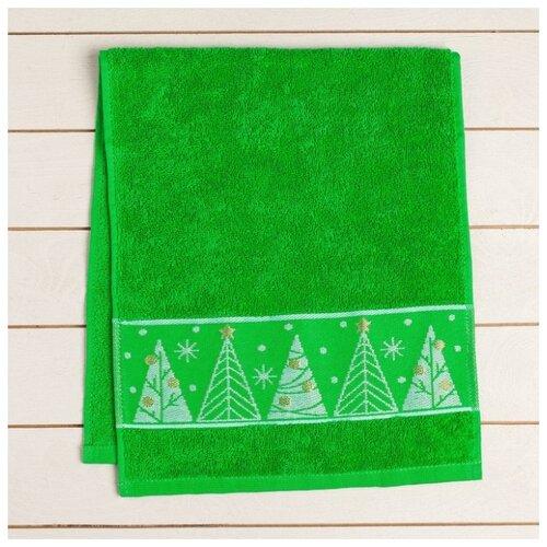 Collorista полотенце Радости и счастья для рук 30х70 см зеленый