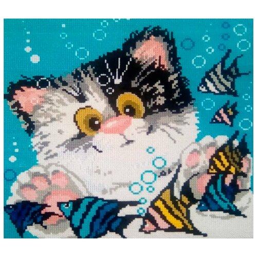 Купить Риолис Набор для вышивания Котёнок 30 x 30 см (1100), Наборы для вышивания
