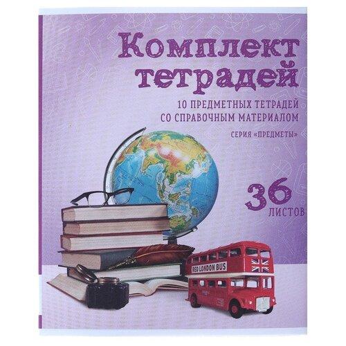 Купить Calligrata Упаковка тетрадей Предметы 3941413, 10 шт., 36 л., Тетради