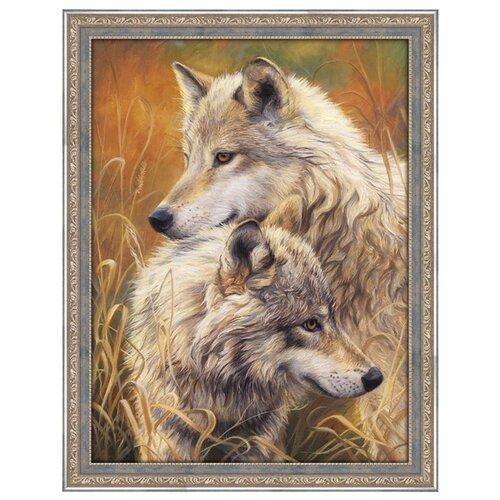 Купить Алмазная живопись Набор алмазной вышивки Волчья нежность (АЖ-1403) 30x40 см, Алмазная вышивка
