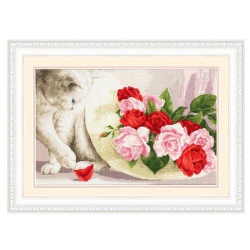 Купить Золотое Руно Набор для вышивания З-054 Кот и розы, Наборы для вышивания
