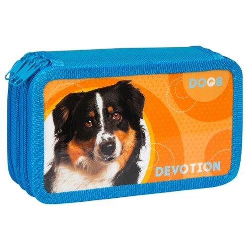 Купить ArtSpace Пенал Devotion (30П25-3_ПК12_25493) синий/оранжевый, Пеналы