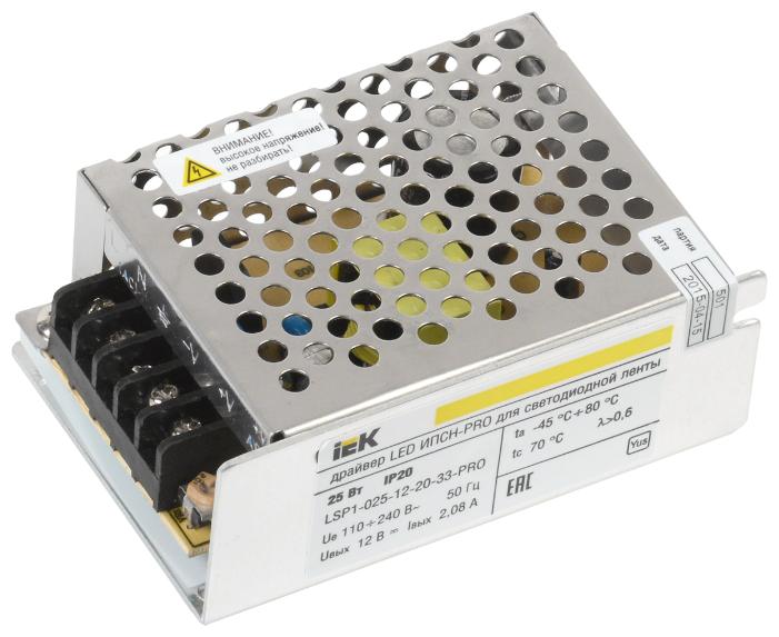 Блок питания для LED IEK LSP1-025-12-20-33-PRO 25 Вт
