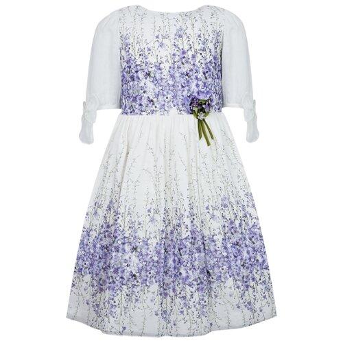 Платье Lesy размер 164, белый/фиолетовый