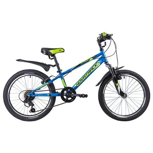 Подростковый горный (MTB) велосипед Novatrack Extreme 20 6 (2019) синий (требует финальной сборки) novatrack extreme 24 черный