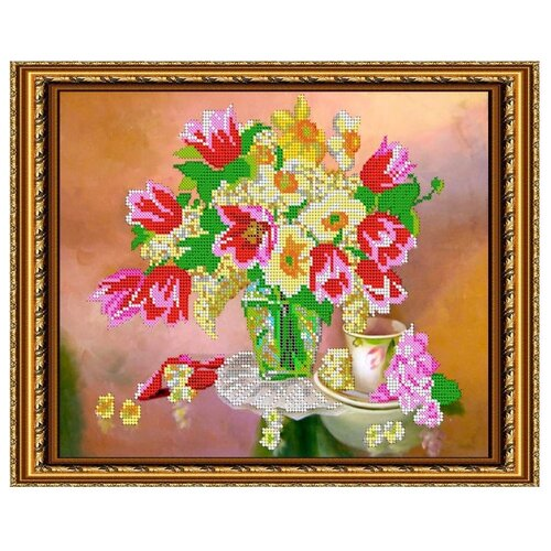 Светлица Набор для вышивания бисером Весеннее настроение 30 х 24 см, бисер Чехия (266)
