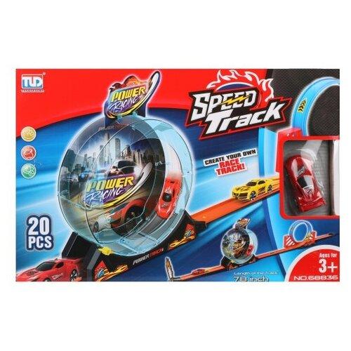 Купить Автотрек Наша Игрушка на батарейках, 19 деталей, машина инерционная (200228105), Наша игрушка, Машинки и техника