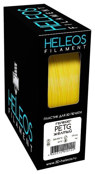 PETG пластик Heleos 1.75 мм желтый 1 кг фото 1