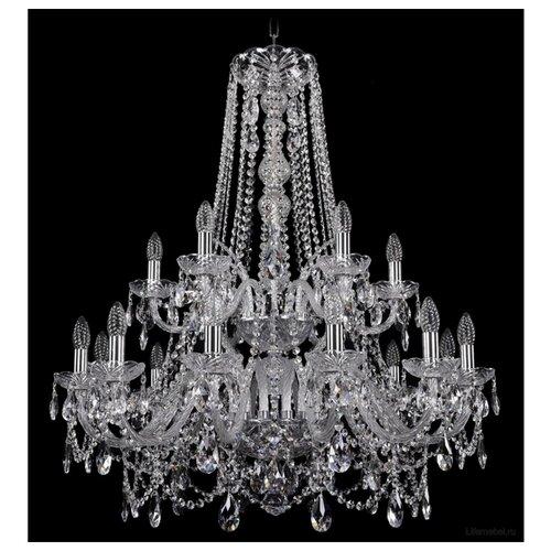 Фото - Люстра Bohemia Ivele Crystal 1411 1411/12+6/300/h-93/2d/Ni, E14, 720 Вт люстра bohemia ivele crystal 1411 1411 12 6 300 h 94 g e14 720 вт