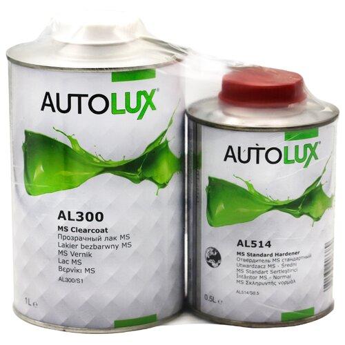 Комплект (автомобильный лак, отвердитель для лака) Autolux AL300 MS + AL514 MS 1500 мл