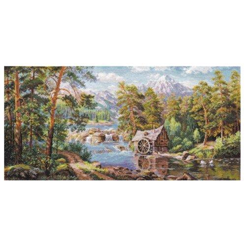 Купить Алиса Набор для вышивания крестиком Пейзаж с мельницей 53 х 26 см (3-17), Наборы для вышивания