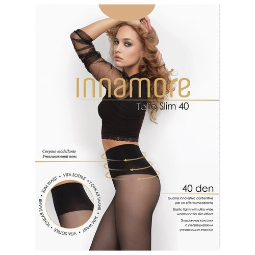 Колготки Innamore Talia Slim 40 den miele 3-M (Innamore)Колготки и чулки<br>