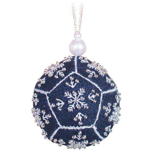 ZENGANA Набор для вышивания бисером и нитками Серебряный мяч 6 х 6 × 6 см (М-116)