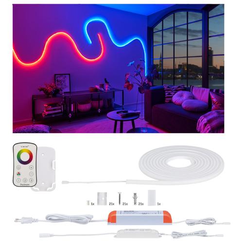 Лента светодиодная Paulmann MaxLED Flow 3м 27Вт 810лм RGB 230/24В Разноцветный Комплект ДУ 70966