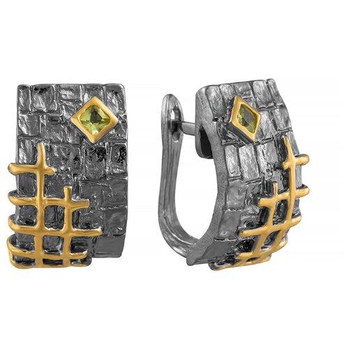 JV Серебряные серьги с перидотом YE00997-SR-PD-BJ