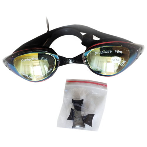 Очки для плавания Wave с диоптриями -3.5 очки для плавания mad wave spurt rainbow azure white