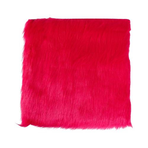 Мех искусственный Арт Узор для творчества 2150 г/м, 30x30 см ярко-розовый