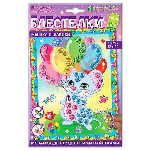 Купить Клеvер Набор для создания картины Блестелки Мышка и шарики (АМ 42-010), Поделки и аппликации