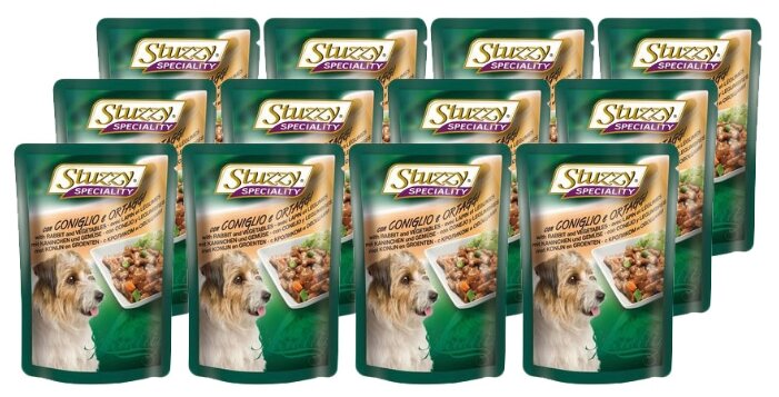 Корм для собак Stuzzy Speciality Dog c кроликом и овощами (0.1 кг) 24 шт.